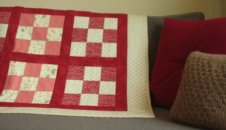 Quilt on the couch