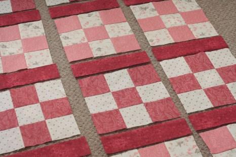 Nine-patch blocks with lattice