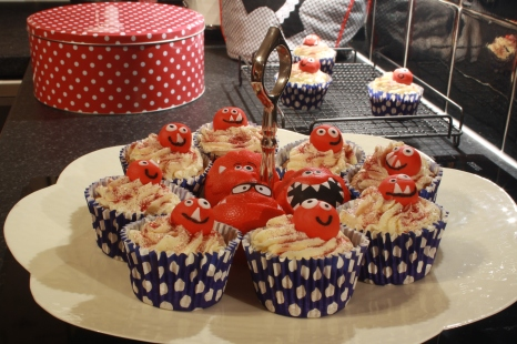 Red Nose Day cupcakes