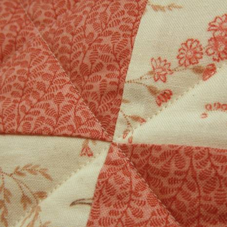Close-up quilted cushion