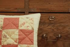 Patchwork quilted cushion by Mrs D
