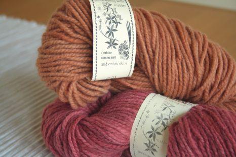 Sandstone and pink Shilasdair wool