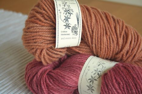 Sandstone and pink Shilasdair wool