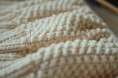 Close-up moss stitch