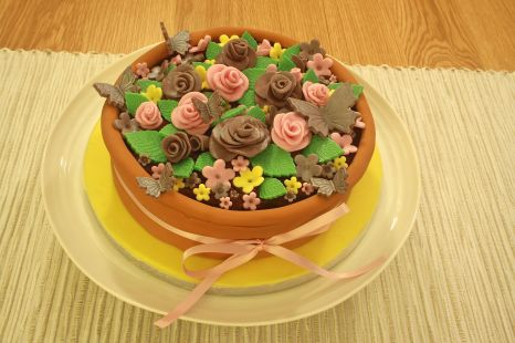 Flowerpot Chocolate Cake