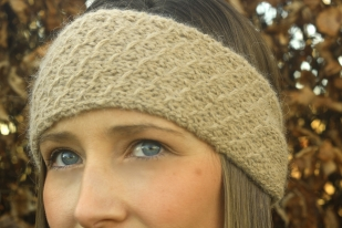 Click here to purchase the knitting pattern for the Honeycomb Headband.
