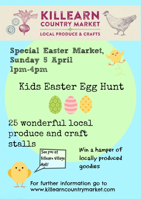 Come along to the Killearn Country Market this Easter Sunday!